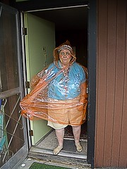 joanne buxton, neighbor, angel.jpg (paulschultz) Tags: reno plasticraincoat