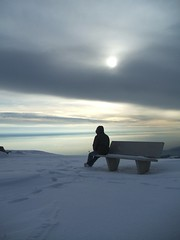 Solitudine ( ILMARTINO ) Tags: sunset sun mountain snow perfect solitude loneliness photographer searchthebest monte parkbench numb observed grappa the solitudine blueribbonwinner abigfave diamondclassphotographer flickrdiamond observedloneliness