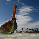 Beach Thailand Andaman Sea Koh Lipeh Strand Meer Asia Asien Longtail Boat Boot