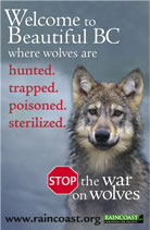 Stop the war on Wolves advertisement