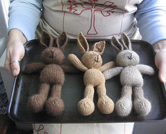 baking (littlecottonrabbits) Tags: rabbit toy baking knitting handmade wip softies knitted stuffies