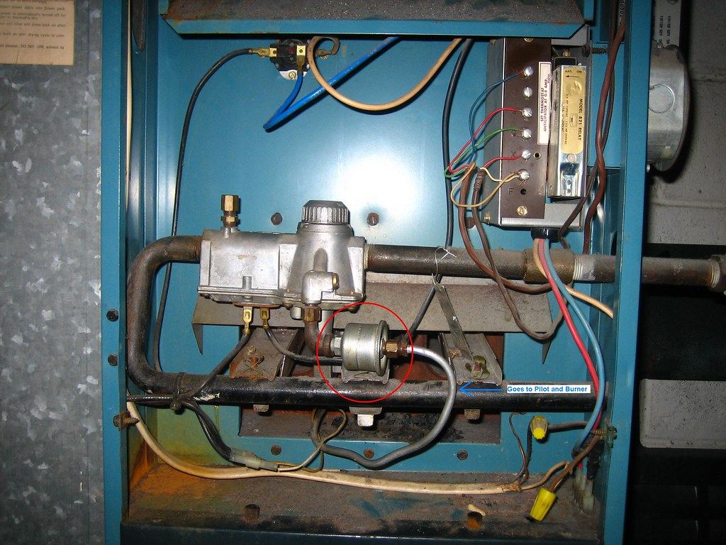 how to clean pilot light on gas furnace