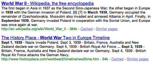 Google Info View
