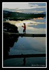 Catch of the day (hilmy2007) Tags: sunset lake reflection fishing malaysia illegal kualalumpur sungaibesi sonya700