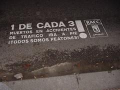 1 de cada 3 muertos en accidente de tráfico iba a pie ¡todxs somos peatones!