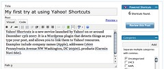The Yahoo! Shortcuts WordPress widget