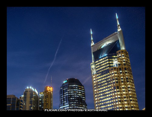 Nashville Skyline at Twilight by Exothermic, on Flickr