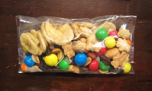 trail mix baggie