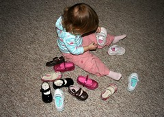 A girl and her shoes
