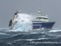 erney RE 101 (Bergthor) Tags: ocean blue sea fish storm nature weather island boat iceland fishing fisherman nikon europe ship fishermen wav