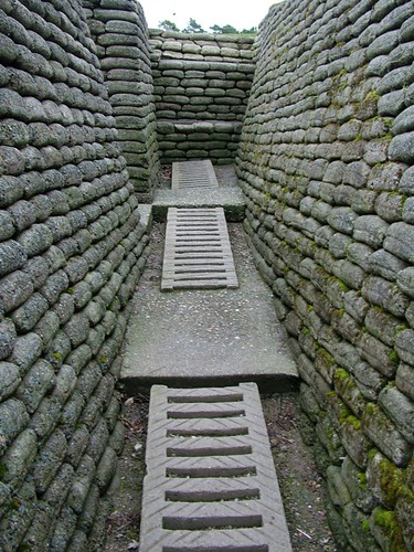 Reconstructed trench – Vimy Ridge