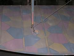 Turnbuckles On Rumpler (thegreatlandoni) Tags: world airplane war stitch aircraft wwi wing cable tape fabric ribs stitches rib ww1 tapes brace rigging biplane bracing turnbuckle rumpler