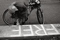 F R E E ... (Rai ) Tags: china blackandwhite woman macro love monochrome bike freedom chalk nikon peace protest free tibet human rights r di gathering lama af dslr injustice xr ld dalai aspherical sanfranncisco f3563 onesandzeros somecrappylens