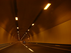 In the tunnel (individual8) Tags: tunnel autobahn april 2008