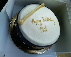 Bodhran birthday cake (master phillip) Tags: cameraphone birthday irish cake drum decoration cellphone motorola razr v3 celtic bodhran razrv3 dorothylanemarket