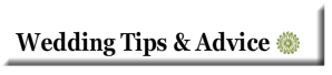 wedding tips advice category