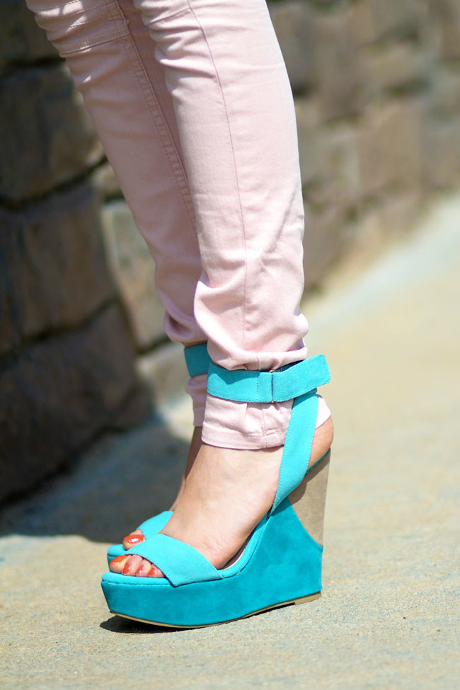 Jeffrey Campbell Shy Town Suede Wedges, Color blocking Fashion, Shoes