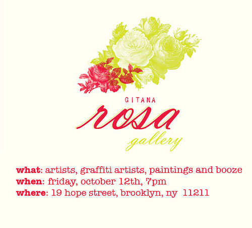 gitana rosa gallery closing party invitation