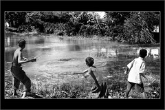 those were the days... (Soumya Bandyopadhyay) Tags: friends childhood rural play searchthebest canoneosdigitalrebelxt canning westbengal dabu sigma1770mm mywinners aplusphoto superbmasterpiece