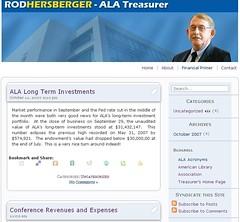 New ALA Treasurer blog