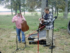Doug and Paul (dcheath8) Tags: party music outdoors guitars