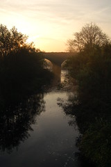 Sunrise at the old railway bridge