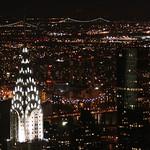 Chrysler building all lit up