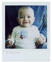Week 13 (Cea tecea) Tags: boy baby polaroid sx70 5months teo weekly blend apolaroidaweek makesmewanttokissyourcheek