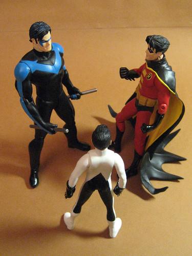 Nightwing, Robin and Damian