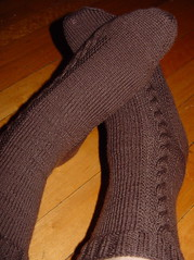 Bark Cable Socks