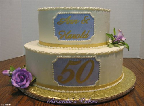 Ann Harold 39s 50th Wedding Anniversary Cake