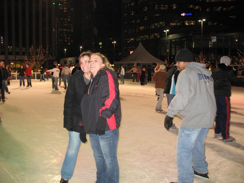 Fountain Square ice skating