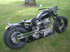 Black Bobber (EasyriderFXDWG) Tags: usa harleydavidson hd springer vibrations bobber vpower