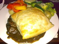 Home-made Steak & Sheep Heid Ale Pie at The Sheep Heid Inn, Edinburgh