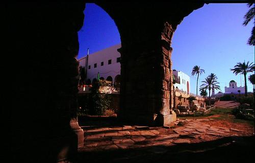 Arch of Marco Aurelio, Tripoli, Libya, August 2007.