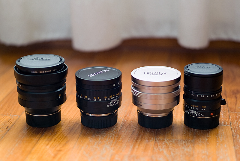 Konica Fast Lenses: M-Hexanon 50mm f1 2 and 60mm f1 2
