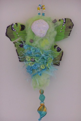 Butterfly Cherub spirit art doll