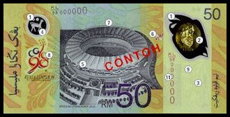 RM50 Banknote (Email) - Back
