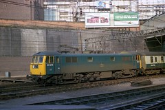 Caverns measureless to man (Fray Bentos) Tags: station train locomotive britishrailways birminghamnewstreet class86 electriclocomotive railblue 86215