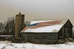 Favorite Barn (newagecrap) Tags: wisconsin barn rural brighton farming rustic barns americanflag farms kenoshacounty snowscapes kenoshawisconsin wisconsinbarn famousbarn americanflagbarn newagecrapphotography