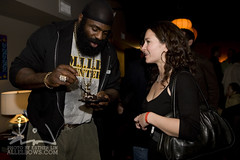 Kimbo and Travel Jessica talk about street fighting (Esther Lin  all elbows) Tags: beard slice kimbo elitexc kimboslice jessicahudnall