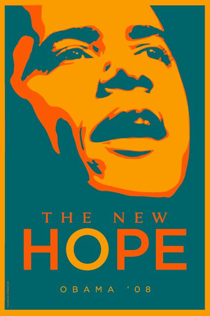 Barack Obama Poster Teal