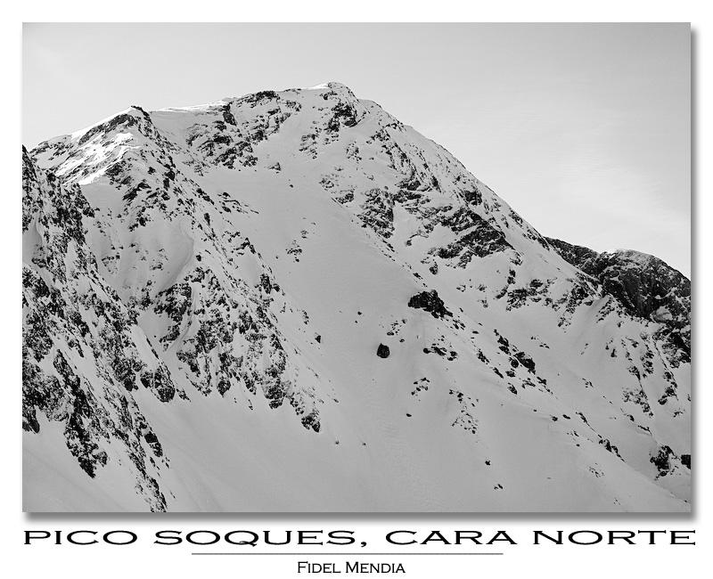 pico Soques, cara norte