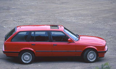 My sold BMW E30 touring (Rob de Hero) Tags: auto red rot car analog germany deutschland slide dia bmw analogue touring e30 3er bmwe30touring