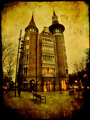 CASA DE LES PUNXES (Punxes House). Barcelona.- (ancama_99(toni)) Tags: street leica old city trip travel vacation urban espaa house holiday abstract color building art texture arquitetura architecture photoshop vintage buildings geotagged lumix photography photo interestingness interesting spain espanha europa europe cityscape photos antique bcn cityscapes modernism photographic catalonia panasonic explore textures ciudades layers catalunya 2008 abstracto espagne modernismo texturas barcellona catalua catalan barcelone spagna modernisme pasoscatalans urbanas punxes 1000views urbanscapes catalogne puigicadafalch texturized 50faves 50favs fz7 dmcfz7 25faves aplusphoto holidaysvacanzeurlaub ancama99 interesantsimo lexample