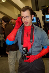 Peter, get off the phone (earthdog) Tags: sanfrancisco camera 15fav d50 costume nikon cosplay spiderman peterparker cellphone nikond50 2008 marvelcomics mosconecenter wondercon comicbookcon unknownlens upcoming:event=312635 wondercon2008 redbluespiderman