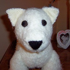 Knitted Westie Pup (in progress)