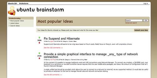 Ubuntu Brainstorm