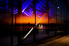 Reflections Of A Sunset (BarneyF) Tags: sunset color reflection liverpool birkenhead 08 wirral merseyside capitalofculture mywinners anawesomeshot echoarena