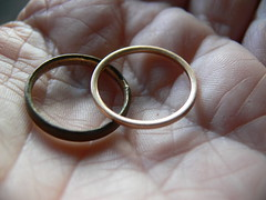 Day 95 - my mother's wedding rings (Foot Slogger) Tags: selfportrait home me mum weddingring